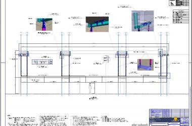 imagem Corte B-B da Estrutura Auxiliar para Forro