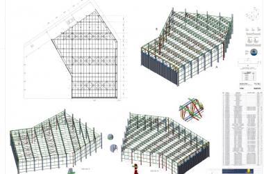 imagem 3D da Estrutura Metálica