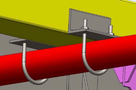 Imagem 3D - Sup Abraçadeiras P Fixação das Tubulações P Sprinklers
